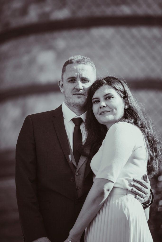 Brautpaar Portrait im Schlosspark