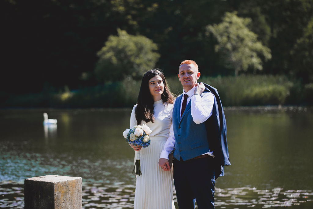 Brautpaar Portrait in der Natur in Karlsruhe