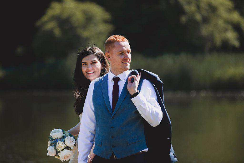 Brautpaar im Schlossgarten